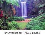 millaa millaa falls of... | Shutterstock . vector #761315368