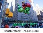 new york city  usa  november 23 ... | Shutterstock . vector #761318203