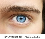 a beautiful insightful look man'... | Shutterstock . vector #761322163
