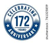 172 years anniversary logo... | Shutterstock .eps vector #761325859