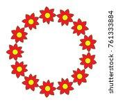 decorative wreath flower... | Shutterstock .eps vector #761333884