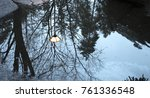 winter trees reflecting ... | Shutterstock . vector #761336548