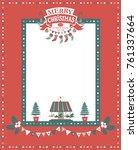christmas frame for... | Shutterstock .eps vector #761337664