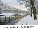 snowfall on djurg... | Shutterstock . vector #761340778