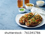minced meat quinoa vegetables... | Shutterstock . vector #761341786