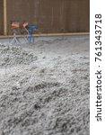 hemp natural floor isolation | Shutterstock . vector #761343718