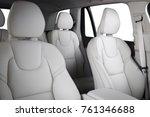 luxury car inside. interior of...   Shutterstock . vector #761346688