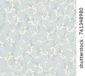seamless damask pattern.... | Shutterstock .eps vector #761348980
