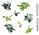 seamless watercolor pattern...   Shutterstock . vector #761352523