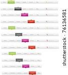 navigation menus   Shutterstock .eps vector #76136581