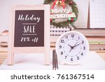 christmas holiday sale 20... | Shutterstock . vector #761367514