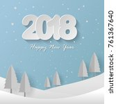 new year background  new year... | Shutterstock .eps vector #761367640
