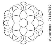 contour mandala for color book. ... | Shutterstock . vector #761367850