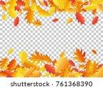 oak leaf border abstract... | Shutterstock .eps vector #761368390