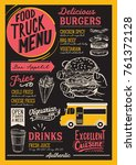 food truck menu for street... | Shutterstock .eps vector #761372128