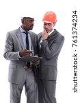 dark master of construction... | Shutterstock . vector #761374234