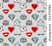 vector seamless pattern with... | Shutterstock .eps vector #761374984