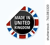 made in united kingdom of great ... | Shutterstock .eps vector #761381320