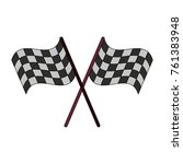 racing flags symbol | Shutterstock .eps vector #761383948