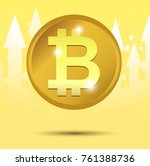 bitcoin vector illustration.... | Shutterstock .eps vector #761388736