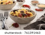 pasta dish in a bowl | Shutterstock . vector #761391463