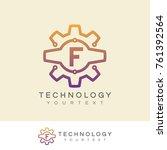 technology initial letter f... | Shutterstock .eps vector #761392564