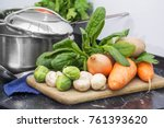 healthy eating. clean fresh...   Shutterstock . vector #761393620