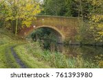 Small photo of An image of a road bridge over the Grand Union Canal shot at Newton Harcourt, Leicestershire, England, UK