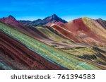 vinicunca  peru   rainbow...   Shutterstock . vector #761394583