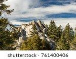 san jacinto peak  california. | Shutterstock . vector #761400406