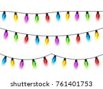 christmas glowing lights on... | Shutterstock .eps vector #761401753