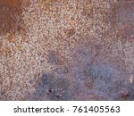 abstract old rusty metal... | Shutterstock . vector #761405563