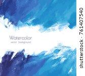 vector turquoise blue  indigo... | Shutterstock .eps vector #761407540