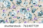 flowers pattern.for textile ... | Shutterstock . vector #761407729
