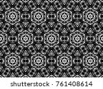 ornament with elements of black ... | Shutterstock . vector #761408614