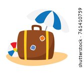 travelling and adventure icon... | Shutterstock .eps vector #761410759