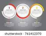 three step infographic and... | Shutterstock .eps vector #761412370