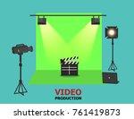 illustration vector of green... | Shutterstock .eps vector #761419873