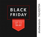trendy promo banner for black... | Shutterstock .eps vector #761420704