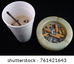 Cup Of Coffee And Ashtray...