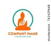 buddha illustration logo....   Shutterstock .eps vector #761429668