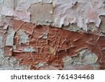 old weather beaten wall  the...   Shutterstock . vector #761434468