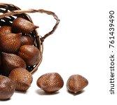 Small photo of Salak or snake fruit on white background