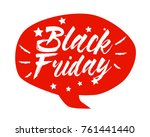 black friday  beautiful... | Shutterstock .eps vector #761441440