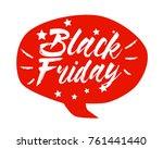 black friday  beautiful... | Shutterstock .eps vector #761441440