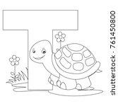 animal alphabet coloring book... | Shutterstock . vector #761450800