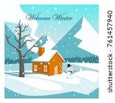 welcome winter vector design | Shutterstock .eps vector #761457940