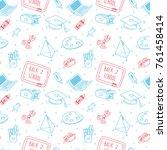 back to school background in... | Shutterstock .eps vector #761458414