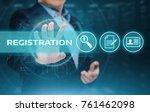 registration online membership... | Shutterstock . vector #761462098