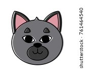 cat head cartoon | Shutterstock .eps vector #761464540